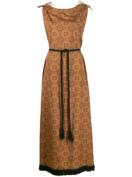 Платье макси с бахромой винтажная A.n.g.e.l.o. Vintage Cult