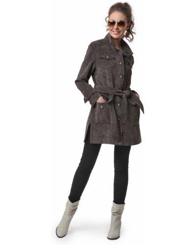 Прямой удлиненный пиджак вельветовый с поясом Dizzyway