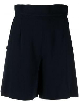 Шелковые с завышенной талией шорты свободного кроя Chanel Pre-owned