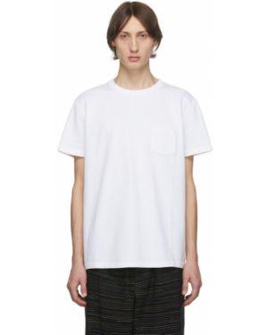 Белая рубашка с короткими рукавами с воротником с заплатками с карманами Schnaydermans