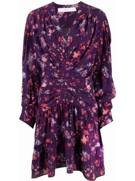 Шелковое платье макси - фиолетовое Iro