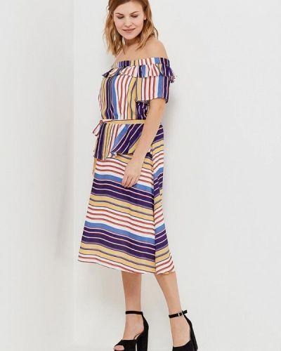 Платье со спущенными плечами Lost Ink Plus