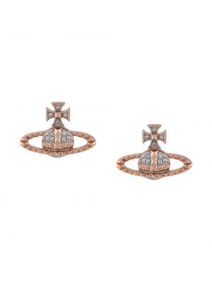 Розовые серьги-гвоздики Vivienne Westwood