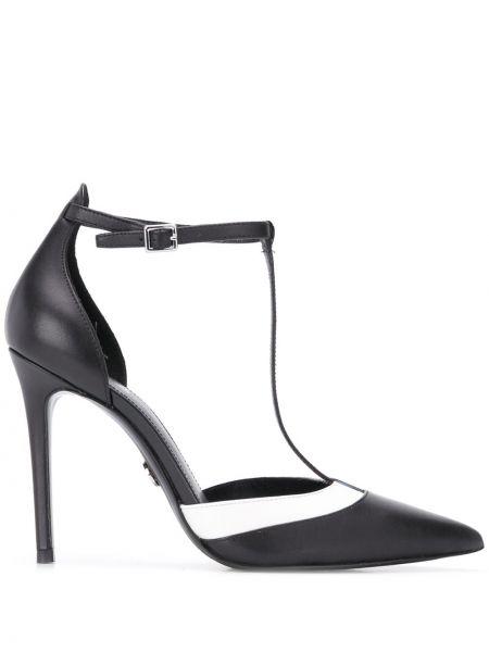 Туфли на каблуке черные кожаные Michael Kors Collection