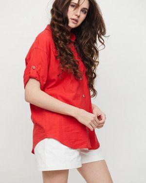 Красная рубашка с лебяжьим пухом Cardo