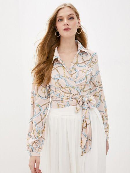 Блузка с длинным рукавом розовая осенняя Sweewe