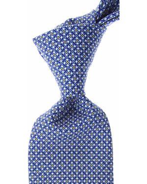 Żółty krawat z jedwabiu Battistoni