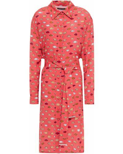 Платье рубашка - красное Markus Lupfer