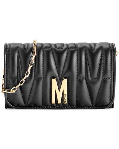 Кожаный кошелек - черный Moschino