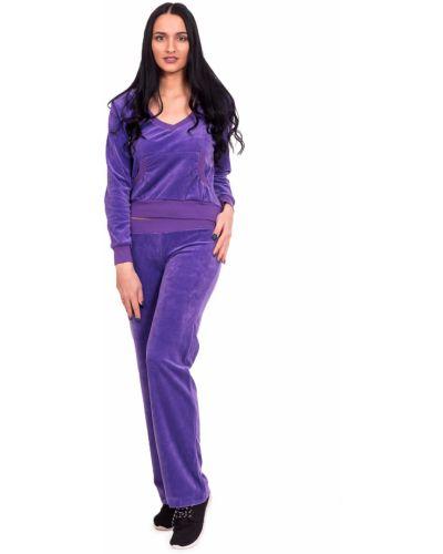 Домашний костюм велюровый фиолетовый Lacywear