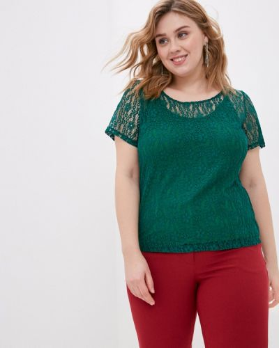 Зеленая блузка с короткими рукавами Svesta