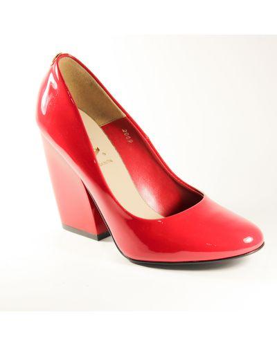 Кожаные туфли - красные Sala