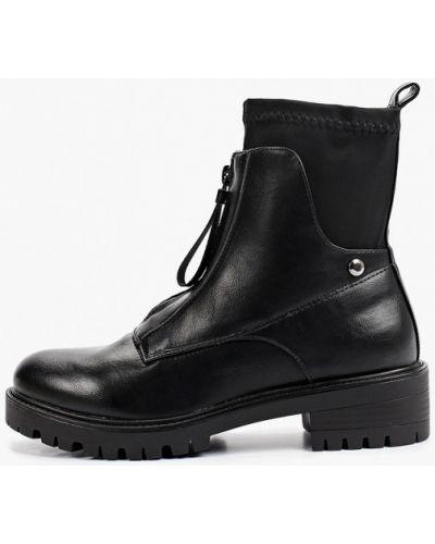 Черные текстильные ботинки Ideal Shoes®