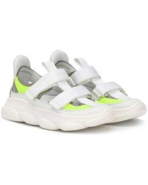 Białe sneakersy skorzane płaska podeszwa Am66