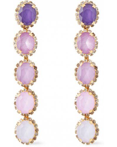 Liliowe kolczyki z kryształkami Elizabeth Cole