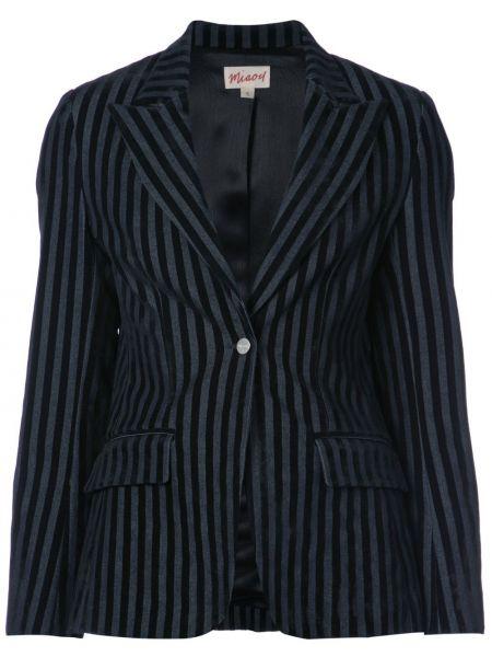 Хлопковый черный приталенный пиджак Miaou