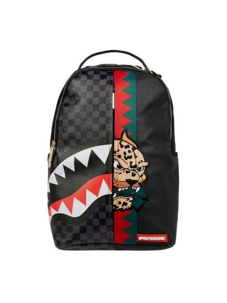 Czarny plecak w paski Sprayground