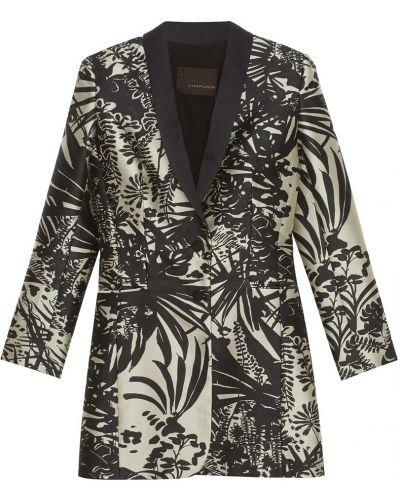 Шелковый черный пиджак Chapurin