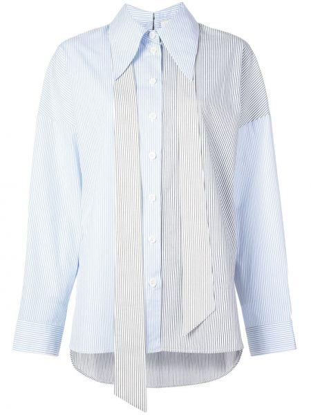 Koszula z długimi rękawami - niebieska Tibi