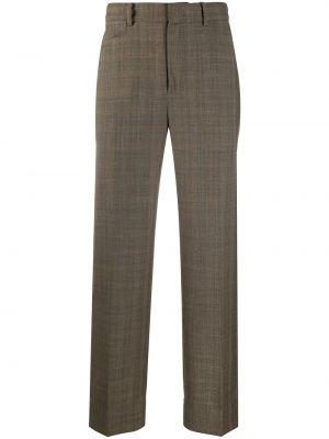 Brązowe spodnie wełniane z paskiem Ader Error