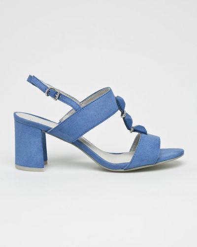 Туфли на каблуке синий Marco Tozzi