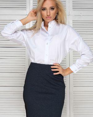 Блузка с воротником-стойкой прямая Leleya
