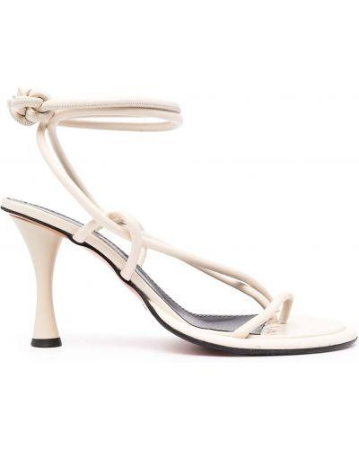 Sandały na obcasie - białe Proenza Schouler