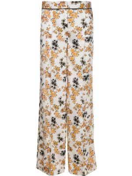 Свободные брюки в цветочный принт со складками Victoria, Victoria Beckham