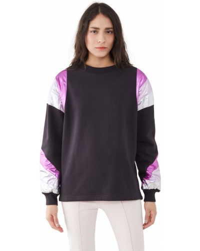 Czarna bluza długa w paski bawełniana Isabel Marant