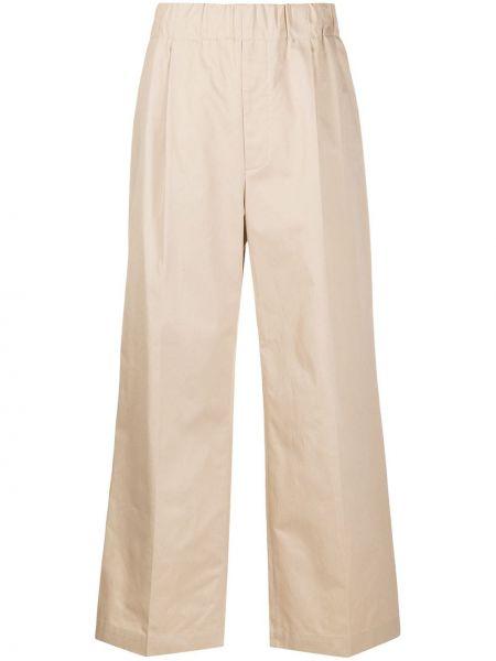 Брючные коричневые плиссированные свободные брюки с карманами Jejia