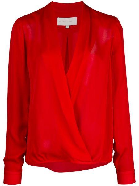 Блузка с длинным рукавом с запахом длинная Michelle Mason