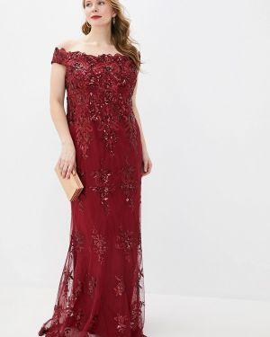 Вечернее платье - красное Goddiva Size Plus
