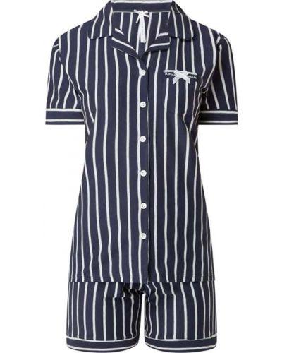 Piżama bawełniana krótki rękaw w paski Louis & Louisa