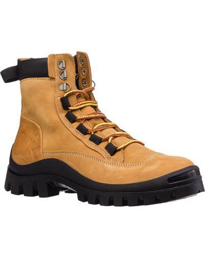 Оранжевые кожаные ботинки с подкладкой Lumberjack
