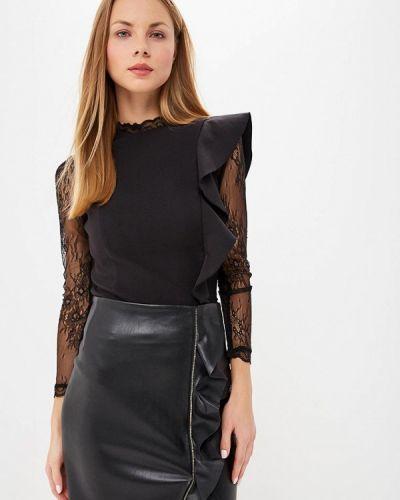 Черная блузка с длинным рукавом Love Republic