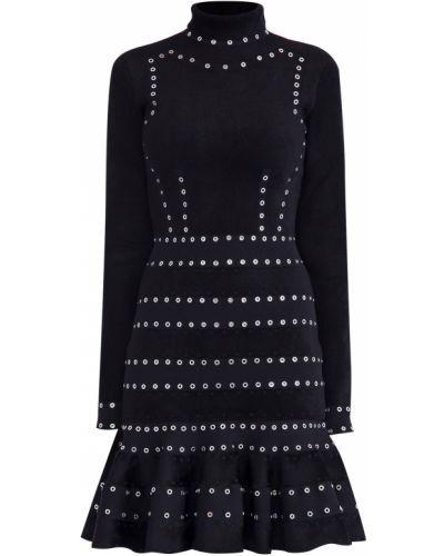 Платье из вискозы замшевое Alexander Mcqueen