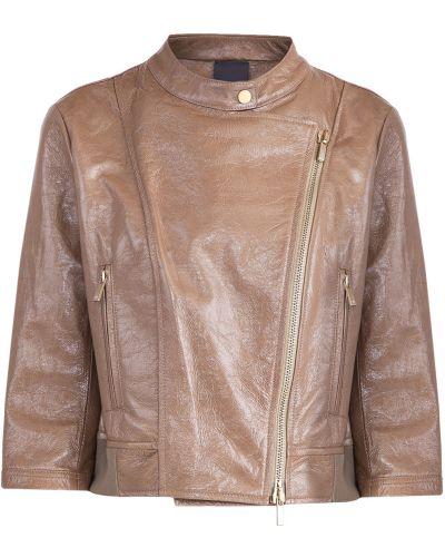 Кожаная куртка на молнии укороченная Lorena Antoniazzi