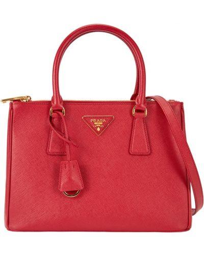 Красная кожаный сумка Prada