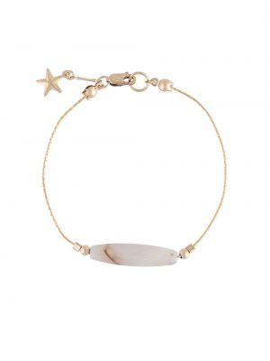Золотистый желтый браслет с декоративной отделкой Petite Grand