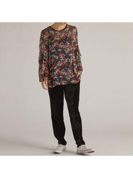 Блузка с длинным рукавом с цветочным принтом из вискозы Rene Derhy