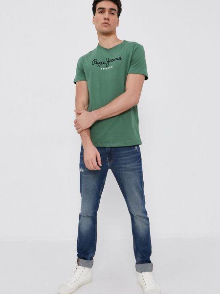 Хлопковая футболка Pepe Jeans