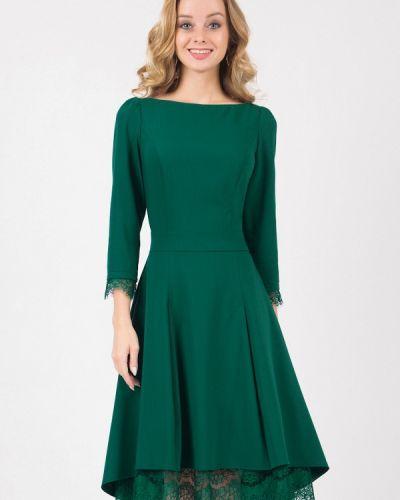 Коктейльное платье осеннее зеленый Marichuell