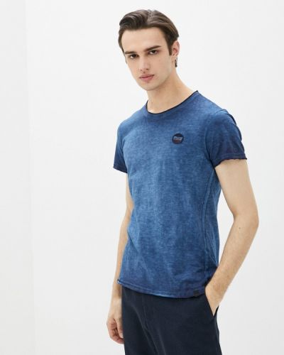 Синяя футболка с короткими рукавами Blend