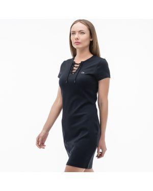 Платье из вискозы черное Lacoste