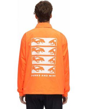 Pomarańczowa kurtka z nylonu P.a.m. Perks And Mini