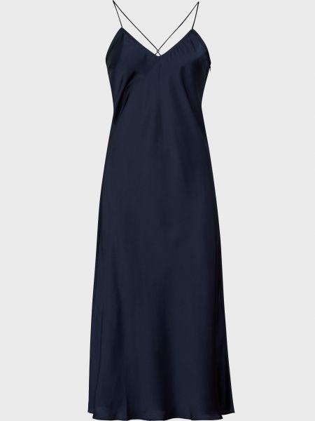Платье на молнии - синее Ba&sh
