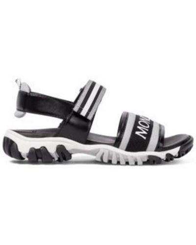 Czarne sandały na lato Moncler