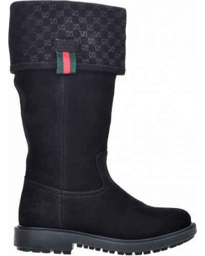 Сапоги замшевые кожаный Gucci