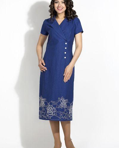 Платье на пуговицах из вискозы D`imma Fashion Studio