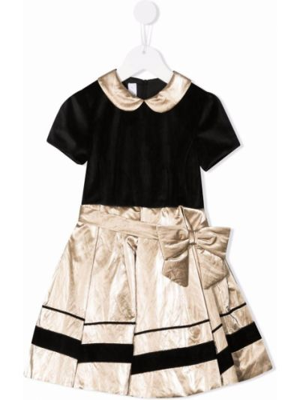 Czarna złota sukienka mini Colorichiari